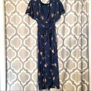 NWT June & Hudson JUMPSUIT floral tie waist